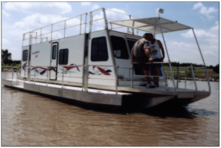 Trailerable houseboats
